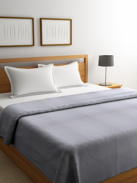 Portico New York Grey Double Bed Duvet Cover