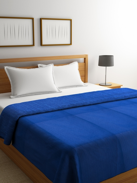 Portico New York Blue Double Bed Duvet Cover
