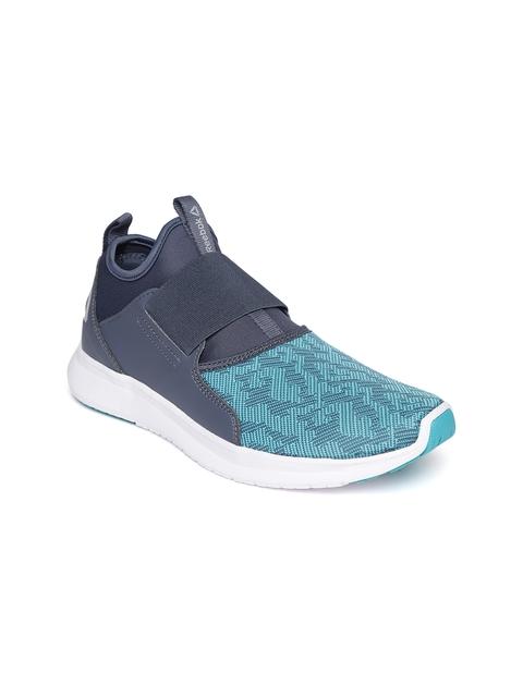 Reebok Women Blue & Charcoal Grey LP Slip-On Walking Shoes