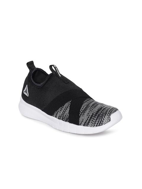 Reebok Women Grey Tread Leap Walking Slip-On Shoes