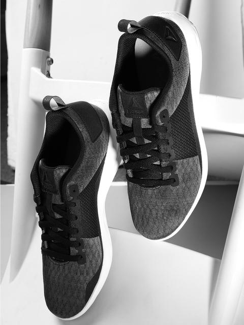 Reebok Women Charcoal Grey & Black Astroride Walking Shoes