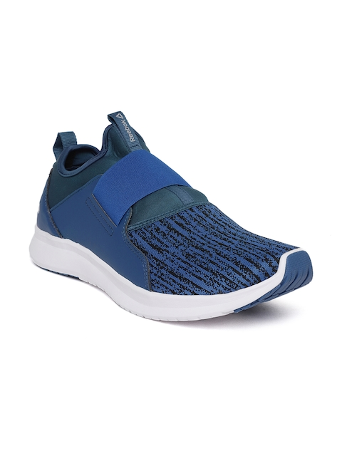 Reebok Men Blue Slip On LP Patterned Walking Shoes