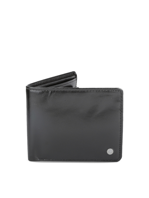 Van Heusen Men Black Solid Two Fold Wallet