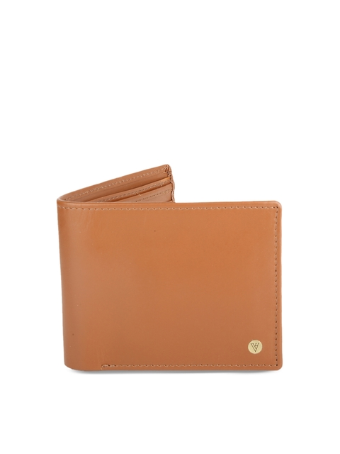 Van Heusen Men Tan Solid Two Fold Wallet