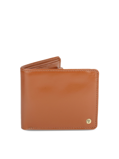 Van Heusen Men Brown Solid Two Fold Wallet