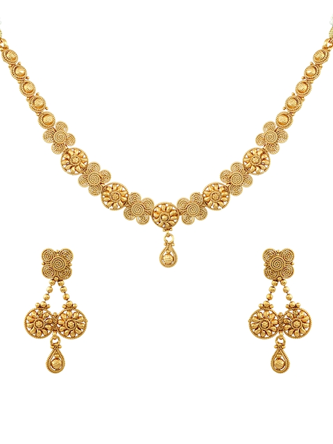 Sia Art Jewellery Gold-Toned Handcrafted Jewellery Set