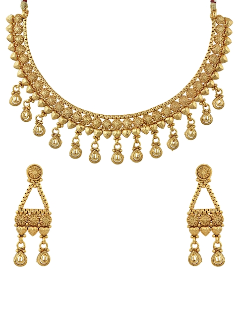 Sia Art Jewellery Gold-Toned Necklace & Earring Set