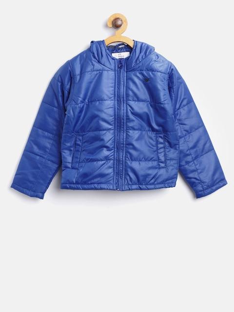 612 league Boys Blue Solid Padded Jacket