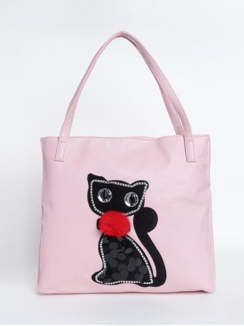 Ginger by Lifestyle Pink Self Design Shoulder Bag