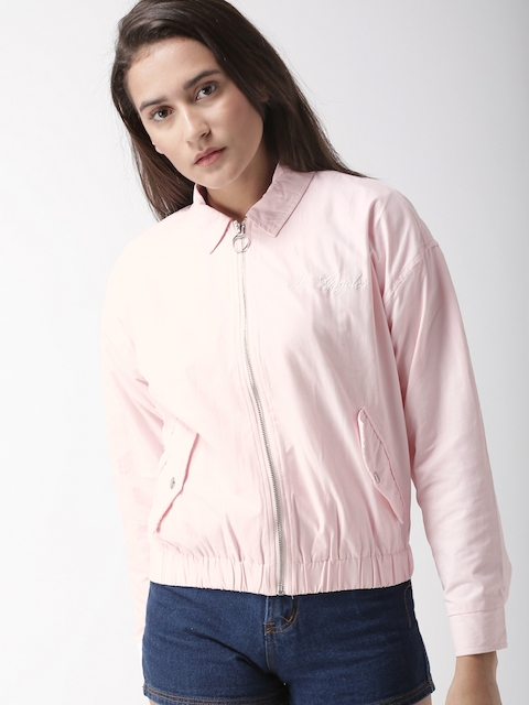 FOREVER 21 Women Pink Solid Bomber