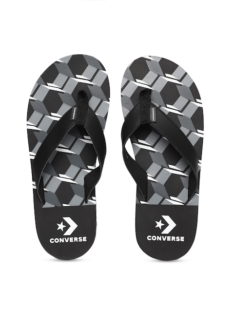 Converse Men Black Solid Thong Flip-Flops