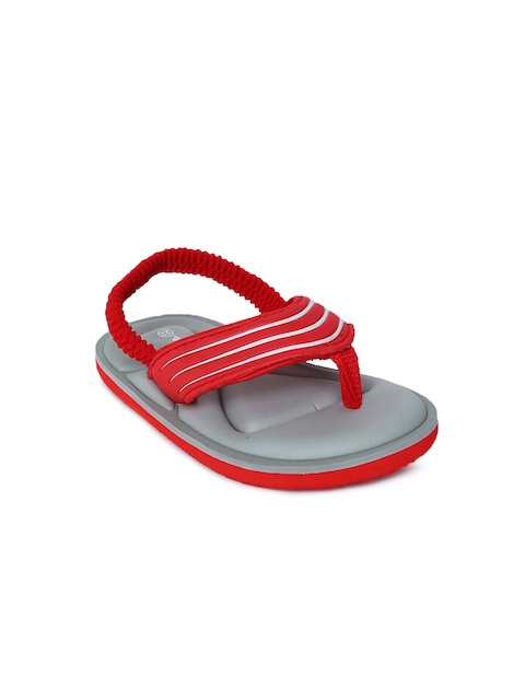 Fame Forever by Lifestyle Boys Red & Grey Colourblocked Thong Flip-Flops