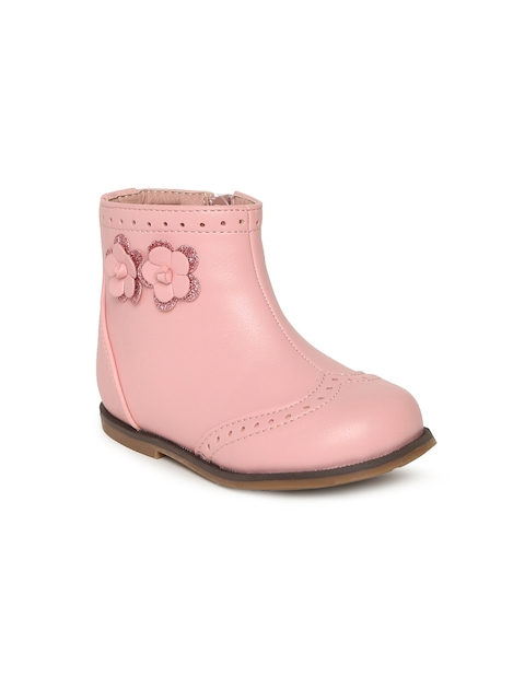 Fame Forever by Lifestyle Girls Pink Solid Mid-Top Flat Boots