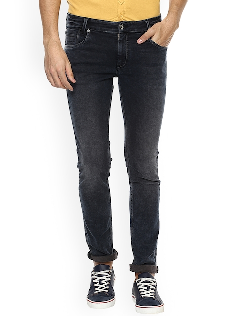Mufti Men Black & Brown Straight Fit Mid-Rise Clean Look Jeans