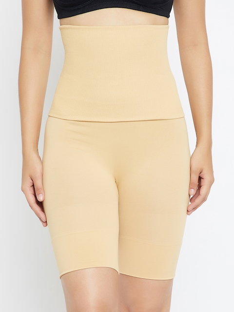 C9 Women Beige Solid Airwear Tummy & Thigh Shaper