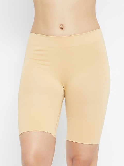 C9 Women Beige Solid Airwear Thigh Shaper