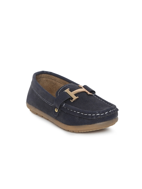 Kittens Boys Navy Blue Loafers