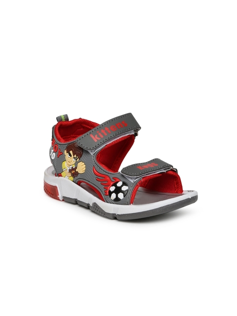 Kittens Boys Grey Comfort Sandals