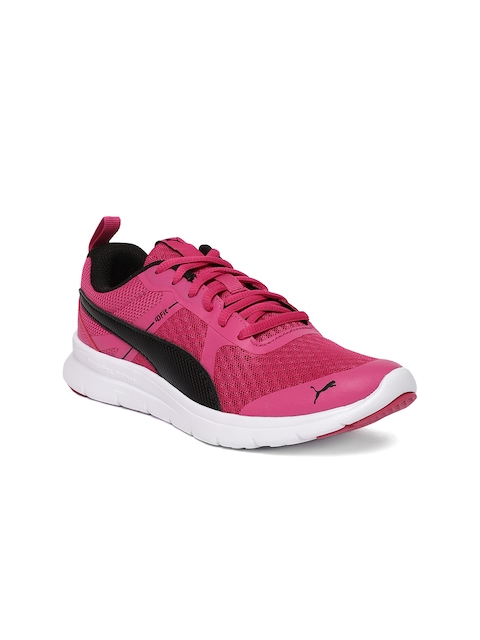 Puma Girls Pink Flex Essential Jr Sports Shoes