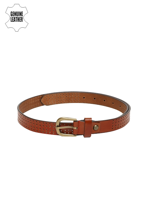 Peter England Men Brown Textured Belt