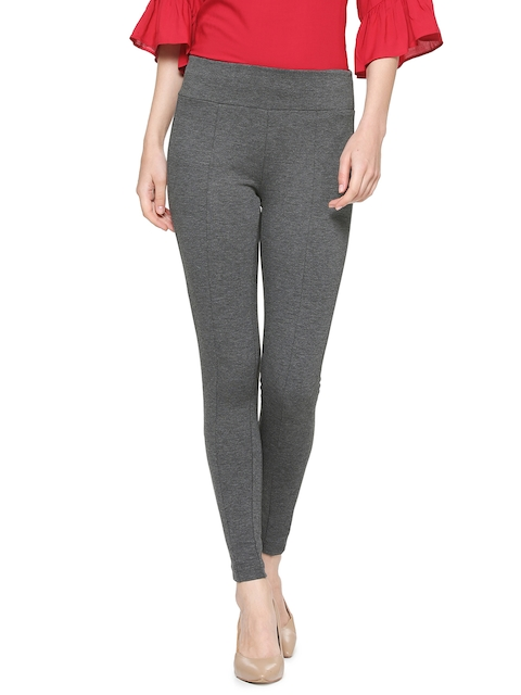 Van Heusen Woman Grey Regular Fit Solid Regular Trousers
