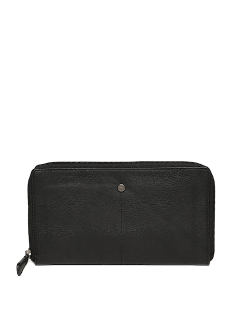 Baggit Men Black Solid Zip Around Wallet