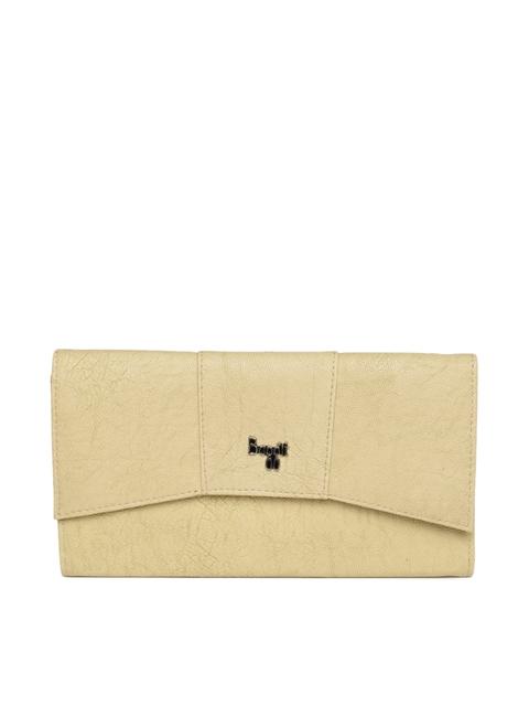 Baggit Women Beige ARIEL Y G Z GLAND Textured Three Fold Wallet