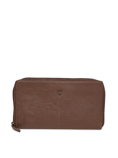 Baggit Men Tan Brown Solid Zip Around Wallet
