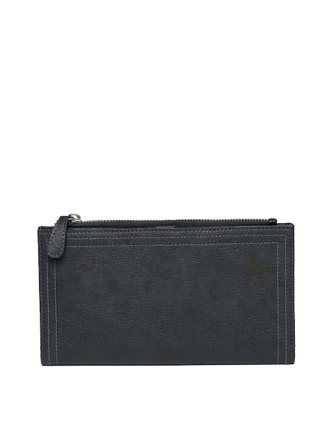 Baggit Men Blue Solid Two Fold Wallet