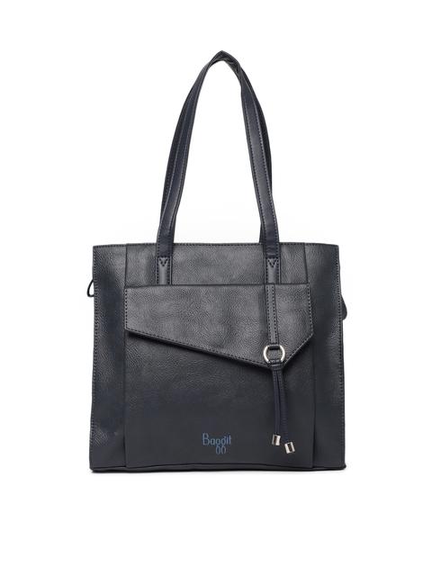 Baggit Navy Blue Textured Handheld Bag