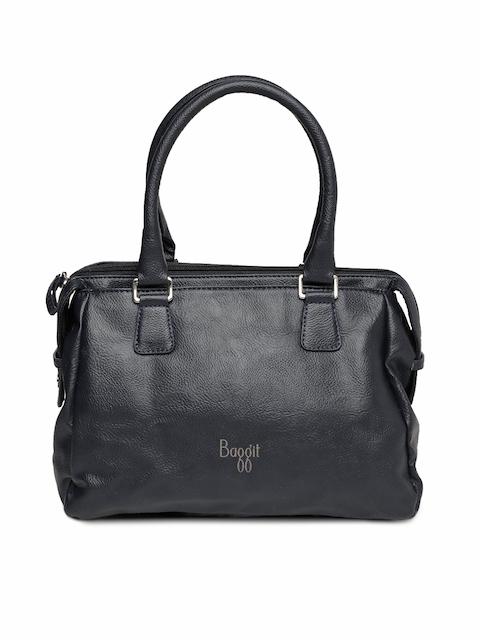 Baggit Navy Blue Solid Handheld Bag