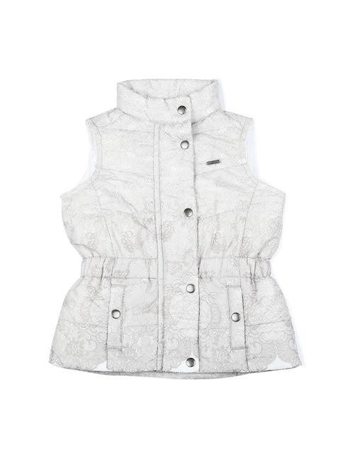 Allen Solly Junior Girls Grey Printed Open Front Jacket