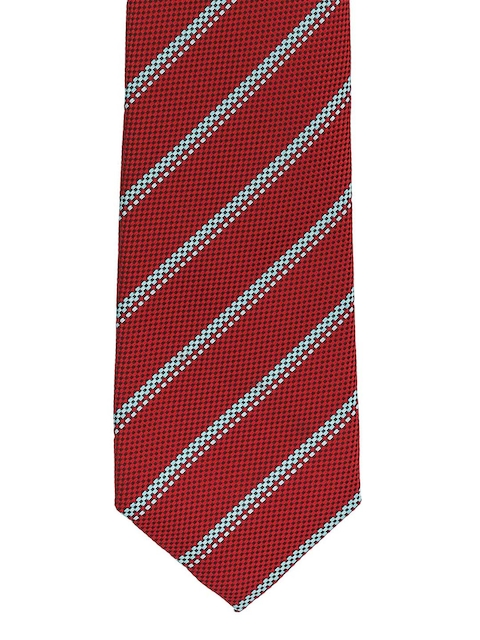 The Tie Hub Red Striped Broad Tie