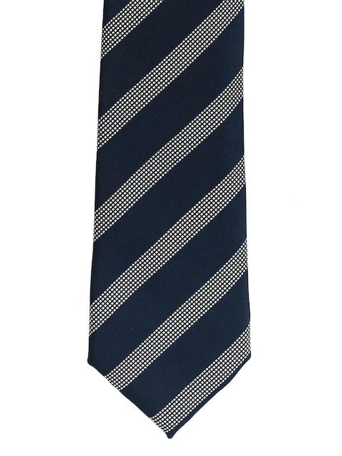 The Tie Hub Blue & Grey Striped Broad Tie