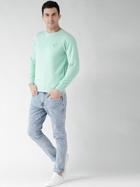 Fort Collins Men Green Solid Sweatshirt