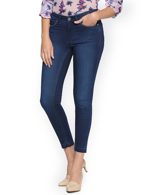 Allen Solly Woman Blue Slim Fit Mid-Rise Clean Look Stretchable Jeans