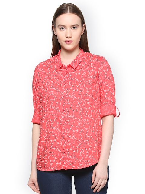 9415032bd2 51%off Allen Solly Woman Red Regular Fit Printed Casual Shirt