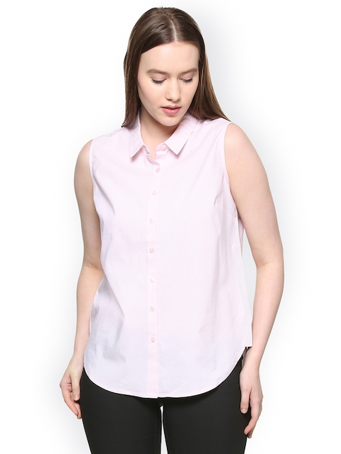 Allen Solly Woman Pink Regular Fit Striped Casual Shirt