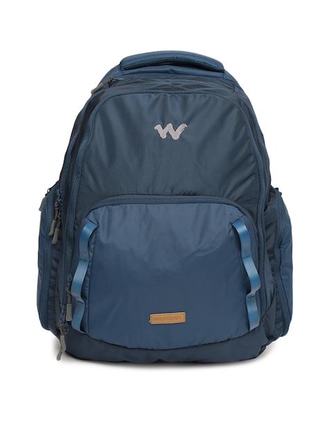 Wildcraft Unisex Blue Solid Imprint Laptop Backpack