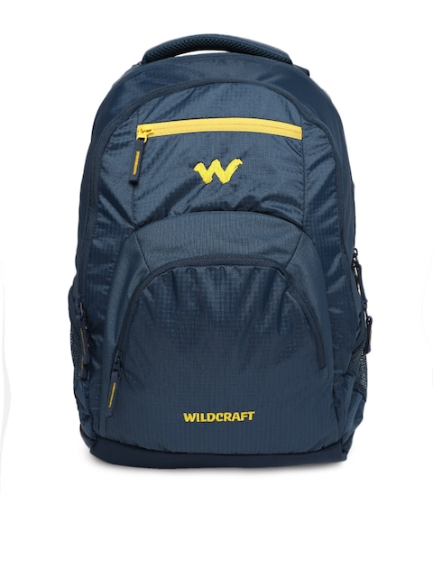 Wildcraft Unisex Blue Solid Hopper_2 Laptop Backpack