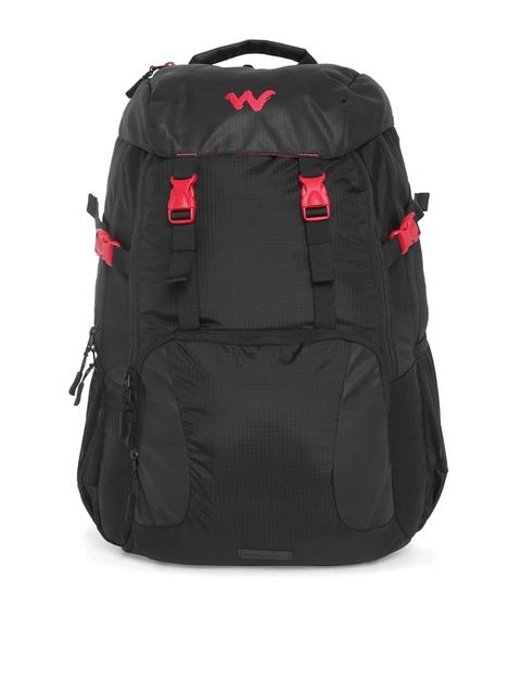 Wildcraft Unisex Black Solid Element Laptop Backpack