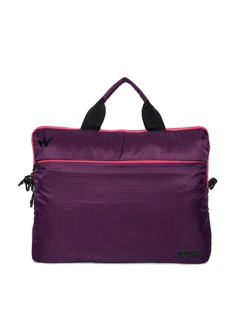 Wildcraft Men Purple Solid Laptop Bag