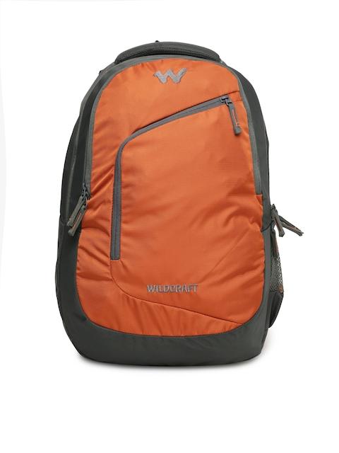 Wildcraft Unisex Orange & Grey Maestro Colourblocked Laptop Backpack
