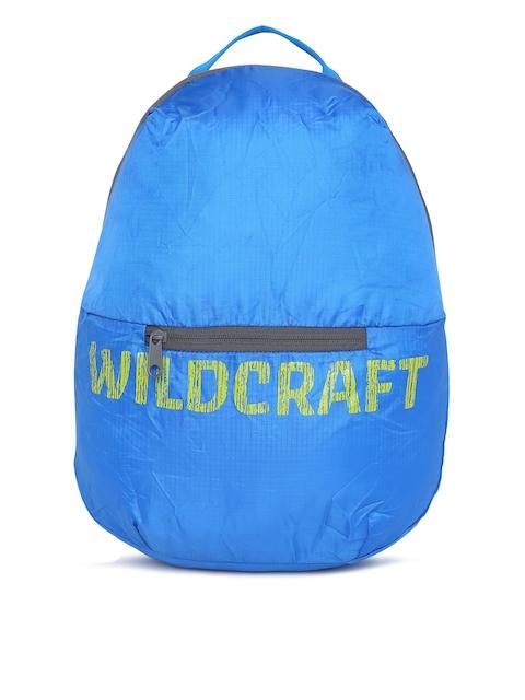 Wildcraft Unisex Blue Brand Logo Print Pac n Go BP 2 Backpack