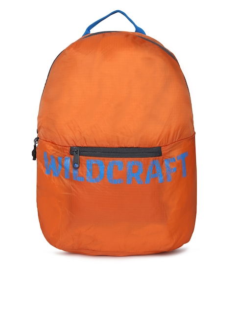 Wildcraft Unisex Orange Brand Logo Backpack