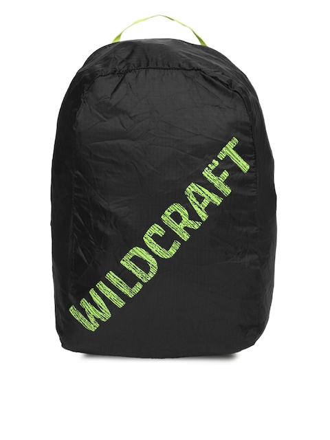 Wildcraft Unisex Black Pac n Go Printed Backpack