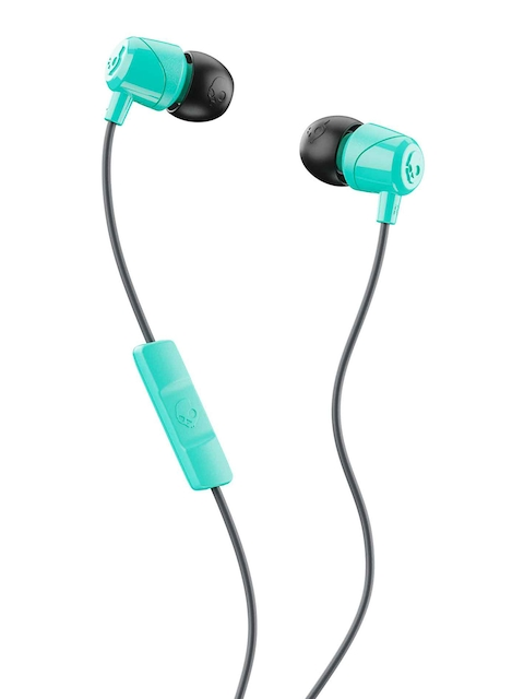 Skullcandy Black & Sea Green JIB In-Ear Headphones with Mic & Remote