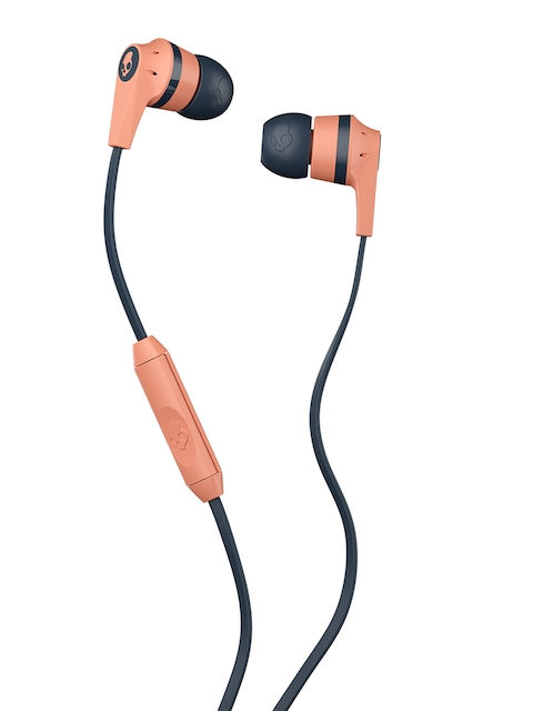 Skullcandy Black & Peach-Coloured Skullcandy Ink'd In-Ear Headphones with Mic & remote