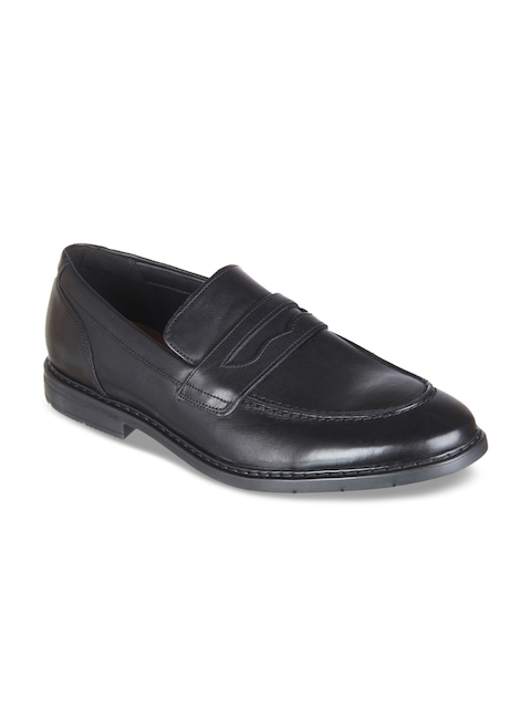 Clarks Men Black Leather Formal Loafers