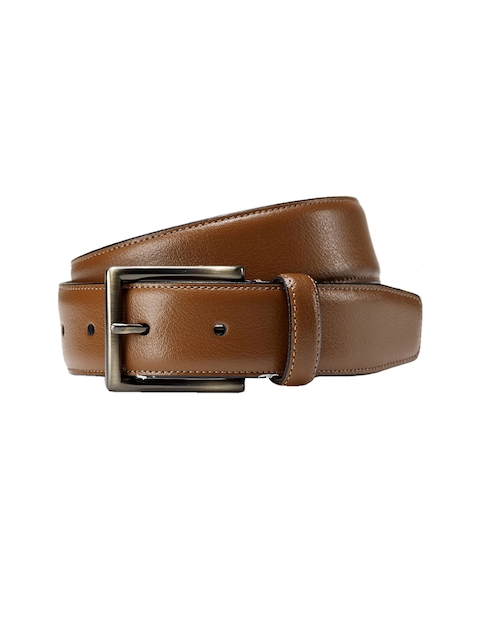 next Men Tan Solid Belt